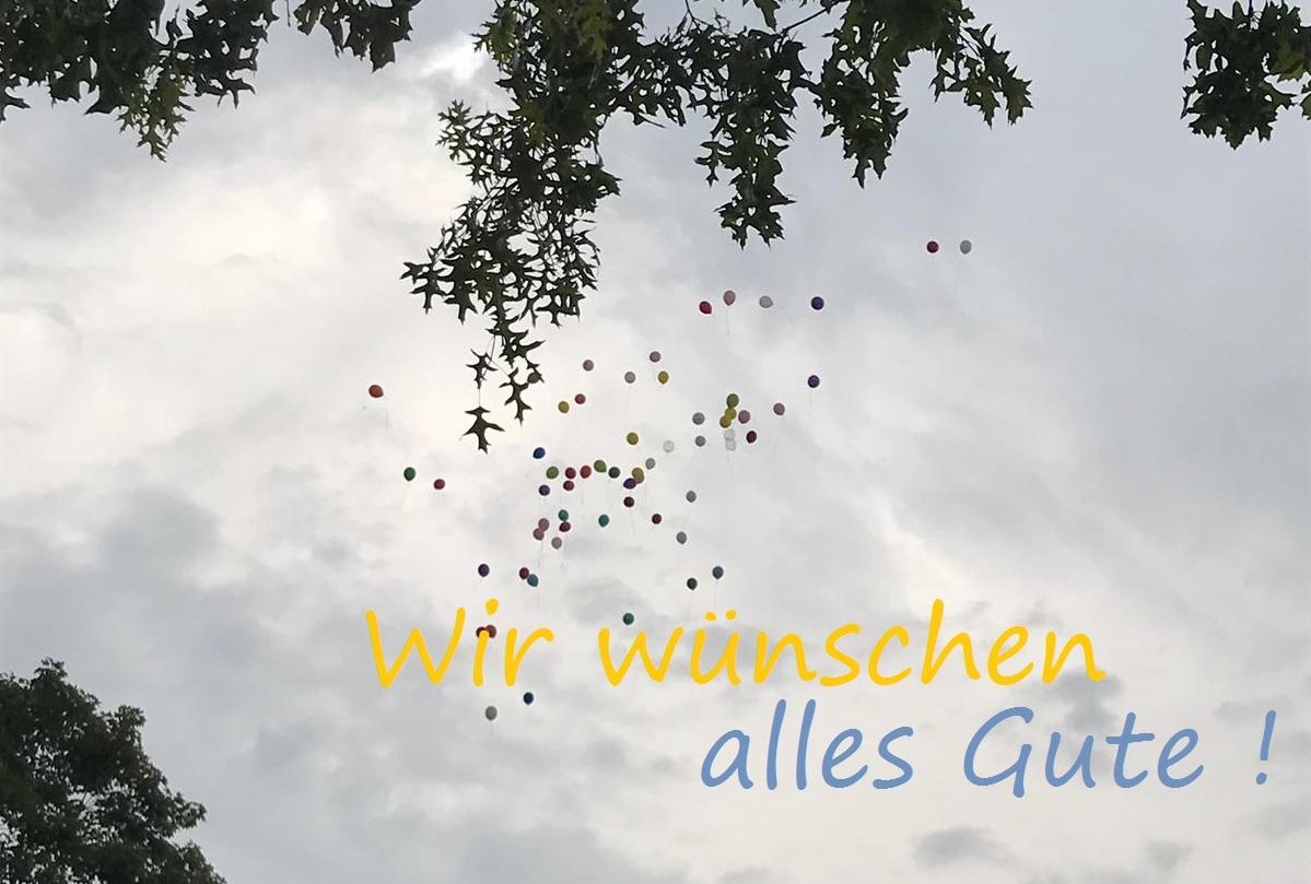 Luftballonaktion für alle Abschlussklassen