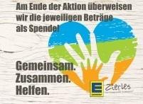 EDEKA Zierles Spendenaktion vom 22.10. – 10.11.2018