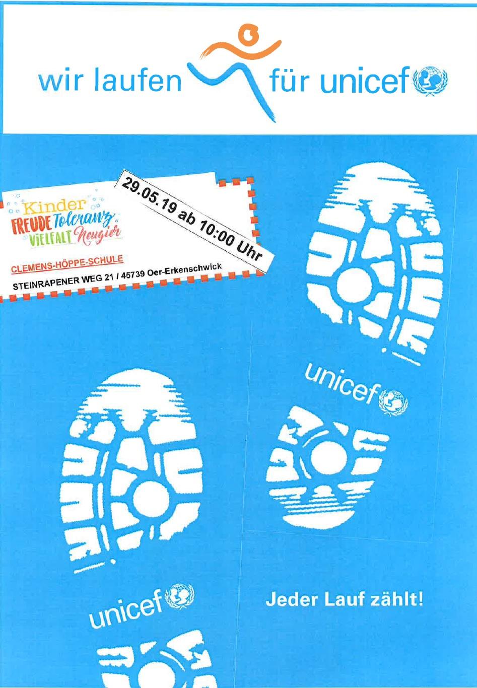 Wir Laufen Für Unicef 29.05.2019
